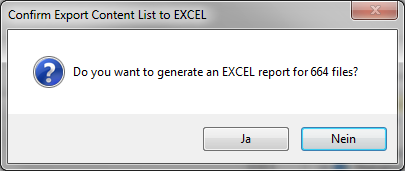 Export content list to Excel