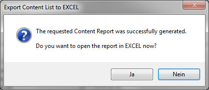Export file list to excel