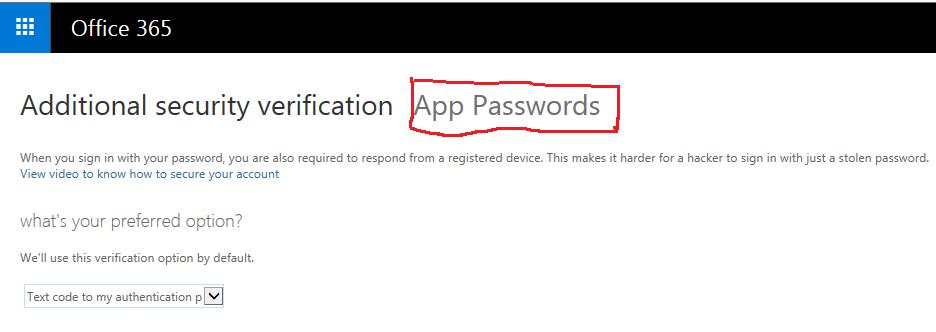 Create application password for DMS-Shuttle