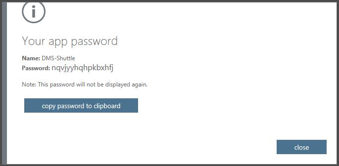 Create Application Password