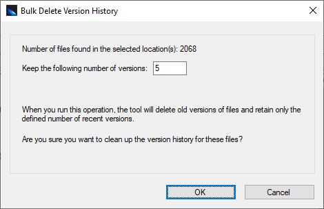 Clean Up Versions in SharePoint
