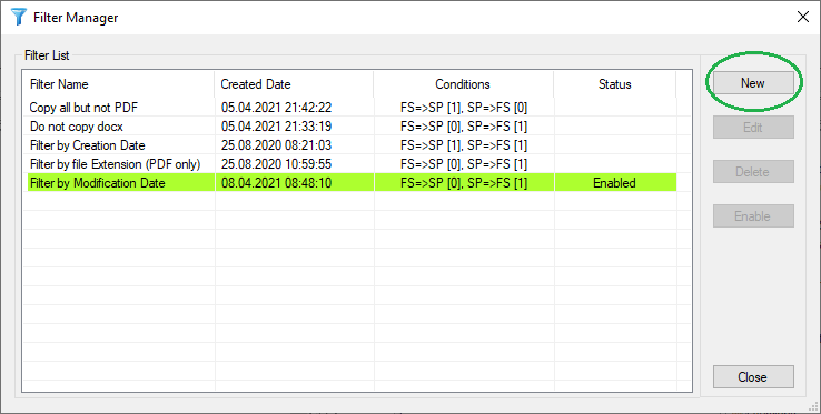 Filtering files during SharePoint Migration